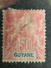 2051 FRENCH GUIANA SC# 46    USED    CV $18