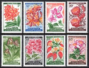 Ivoire Coast 183-190, MNH Divers Local Plantes Et Orchidées, 1961-62