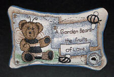 Boyds Bears Backyard Garden ~ A Garden Bears Fruits of Love Tapestry Word Pillow