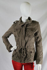 YAG  Couture -Large- $90 Brown Black Silver Sparkles Crest Skull Jacket Coat NWT