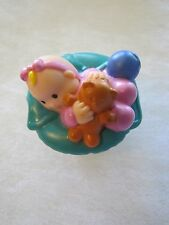 Fisher Price Little People INFANT BABY for Dollhouse w/ TEDDY BEAR TOY BALL Cute