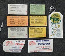 Vintage DISNEYLAND Ticket Stubs SPECIAL EVENTS 1970's Lot of 9