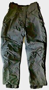 BURTON OUTLAND Men's MEDIUM M Black SNOWBOARD SKI Pants Winter Mobile Excellent