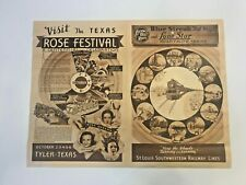 New Listing1936 Cotton Belt Rr Texas Centennial Souvenir 16 x 21 Poster & Map. See Pics.