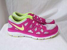 Nike Dual Fusion Run 2 Pure Platinum/Volt Ice-Vivid Pink 599793-005 Gs Size 7 Y