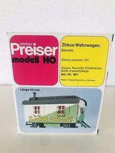 """PREISER  601 Modellbauset Zirkus, Wohnwagen """"Circus SARRASANI"""" in OVP"""