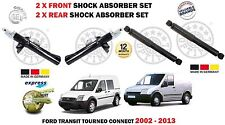 FOR FORD TRANSIT TOURNEO CONNECT 2002-2013 2X FRONT + 2x REAR SHOCK ABSORBER SET