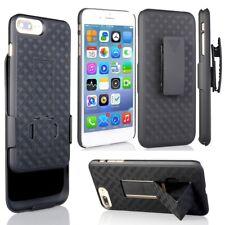 For iPhone 8 PLUS Verizon Holster Black Shell Combo Hard Case Belt Clip Swivel
