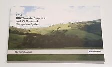2014 SUBARU NAVIGATION SYSTEM OWNERS MANUAL FORESTER IMPREZA BRZ XV CROSSTREK