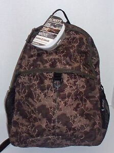 """New SwissGear 15"""" Laptop Green Camo Backpack Tech Travel Gear Org 57 NWT"""