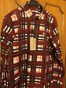 New Burberry Brit Men Shirt Size XXL