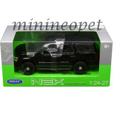 WELLY 22509WEP-BK 2008 CHEVROLET TAHOE 1/24 UNMARKED POLICE VERSION ALL BLACK
