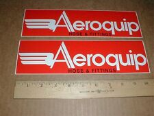 2 Aeroquip hose & Fittings fender contingency new Nascar racing Decal Stickers