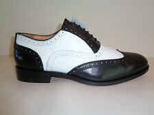 Lord Kent Size 9 Eur 42 Black White Leather Lace Wingtip Oxfords New Mens Shoes
