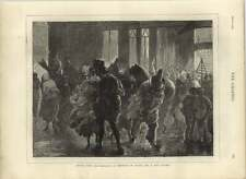 1875 Sketch In Paris On A Wet Night After The Bal Masque