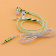 Glow Luminous Light Headphone Earphone Headset Zipper 3.5mm In-Ear Earbud Cool