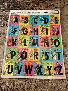Vintage Whitman 1968 Walt Disney ABC Frame Tray Puzzle