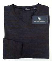 NWT $150 Hart Schaffner Marx LS Sweater Mens Size M L XL 100% Merino Wool V Neck
