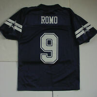 NWT TONY ROMO 9 Dallas Cowboys MESH Jersey Navy Blue YOUTH Boys Sz S M/10 L XL