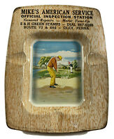 Vintage Ashtray Mike's American Service Station Oley PA 1950s Golfing Related