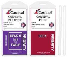 8 Pack Cruise Ship Luggage Tags Wide for Easy Read Register Suitcase Tags Cruise