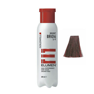 Goldwell Elumen Hair Color BR@6 Brown Red 6.7 oz / 200ml ammonia peroxide free