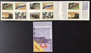 AUSTRALIA 1993 TRAINS/RAILWAYS 10 x 45c BOOKLET MNH