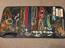 Lot of 50 + New & Vintage Costume Jewelry Rhinestones, Faux Pears, Beads, Etc