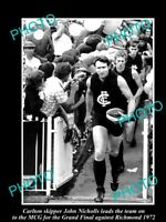 OLD LARGE HISTORICAL PHOTO OF CARLTON FC GREAT JOHN NICHOLLS 1972 GRAND FINAL