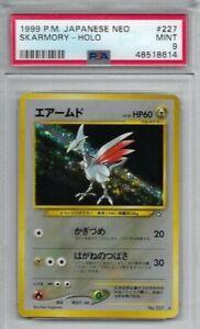 1999 Pokemon Japanese Neo Skarmory Holo #227 PSA 9 MINT!!!