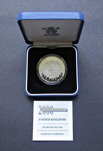 ROYAL MINT 1999 MILLENNIUM 2000 SILVER PROOF £5 FIVE POUNDS - CASED & COA