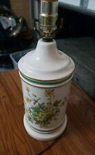 "15"" Vintage Ceramic Lamp with 24 Karat Gold Rings flowers milk bottle"