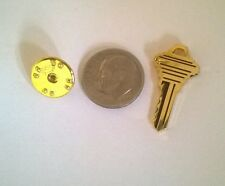 Key Tie Tack Pin Realtor Car Dealer House Garage Gate Key Gold Tone Collectible