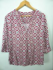 Cute red black White Boho tunic top Blouse Katies sz 6 8