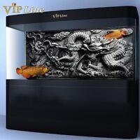 Dragon Relief HD Aquarium Background Poster 3D Fish Tank Decorations Landscape