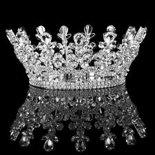 Wedding Silver Diamante Crystal Full Crown Queen Princess Rhinestone Tiaras Prom