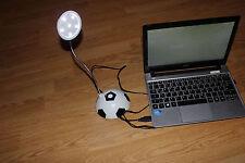 USB Schreibtischlampe,  6 LED`s, Schwanenhals, Fusball Neu
