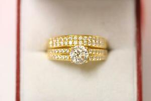 22ct/916 sparkling size S indian gold engagement/wedding ring *Boxed*