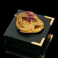 Antique Vintage Georgian 14k Yellow Gold Filled GF Almandine Garnet Pin Brooch