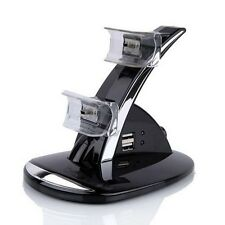 Durable USB LED Dual Controller Charger Charging Dock Stand Station for Sony PS3