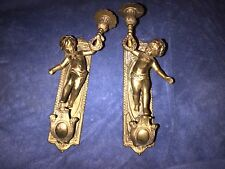 CHERUB WALL SCONCES VINTAGE SOLID BRASS