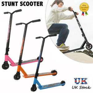 360° SPIN PRO STUNT SCOOTER KIDS ADULT PUSH KICK STREET TRICK SCOOTERS FIXED BAR