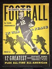 "VINTAGE 1943 Esquire Football Sports Book Magazine ""In War & Peace"""