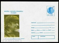 1991 Nichita Stanescu,famous Romanian poet and essayist,Romania,PS cover