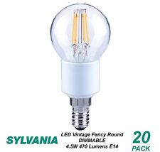 10 X LED 4w Vintage Dimmable Filament Light Globes / Bulbs E14 Screw