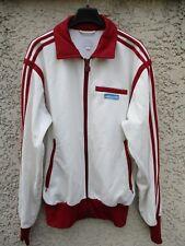 Veste ADIDAS rétro vintage jacket blanc bordeaux giacca sport années 70 S