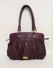 Butterfly By Matthew Williamson Purple Genuine Leather Shoulder Bag Handbag VGC