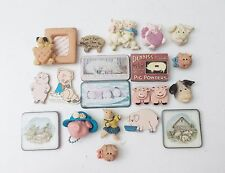 Vintage Lot of Miniature Pig Piggy Piglet Farm Sow Animals Magnets