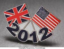 OLYMPIC PINS 2012 LONDON ENGLAND PATRIOTIC USA & UNION JACK FLAG