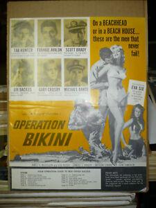 OPERATION BIKINI, orig uncut 16pg prbk [Tab Hunter, Frankie Avalon] - 1963